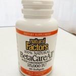 ベータカロチンサプリ Natural Factors ベータケアオールでビタミンAを摂取